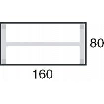 Afmeting 160x80cm