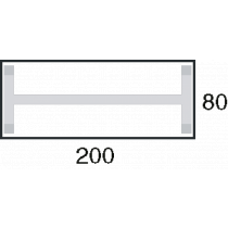 Afmeting 200x80cm
