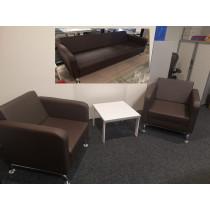 Burotime Belek 2x fauteuil en 3 zitsbank