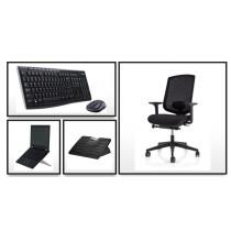 Thuiswerk set compleet met NEN-EN1335 bureaustoel