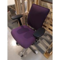 Hag H05 bureaustoel paarse bekleding Onderstel Aluminium