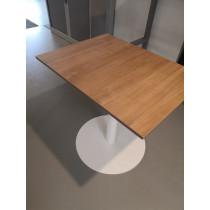 Trompetvoet tafel 80x60cm  rondevoet