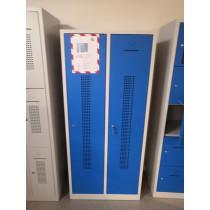 Locker kledingkast 2 deurs met plint breed