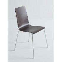 Lila houten 4-poots stoel