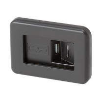 USB oplader zwart