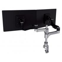 Monitorarm R-Go-Tools Caparo 4 voor 2 schermen zwart-zilver