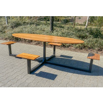Protect Picknick / kantine tafel ovaal 1,5 meter